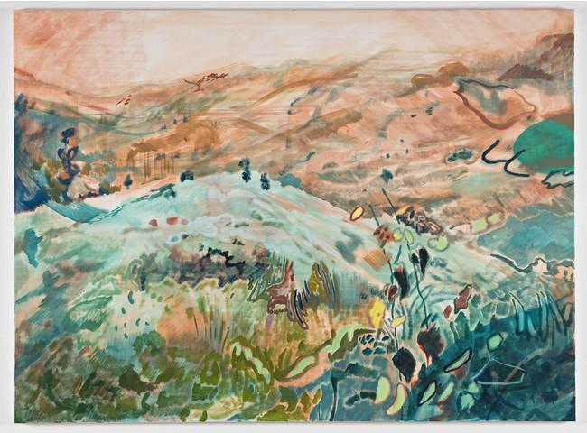 「Dog Day l」140x190cm アクリル、油彩キャンバス 2020年