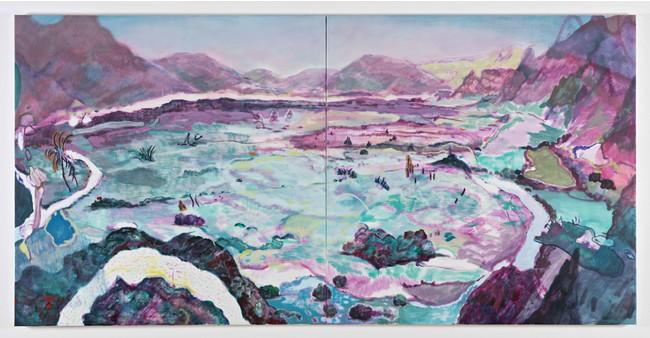 「C World」150x300cm アクリル、油彩_キャンバス 2020年