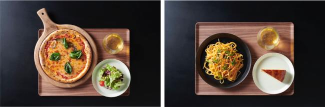 画像左:Bランチセットイメージ、画像右:Cランチセットイメージ