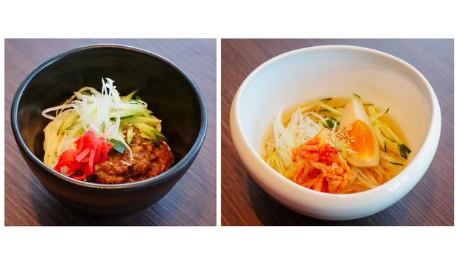 左:じゃじゃ麺 右:盛岡冷麺