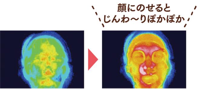 サーモグラフィによる使用時の温度変化