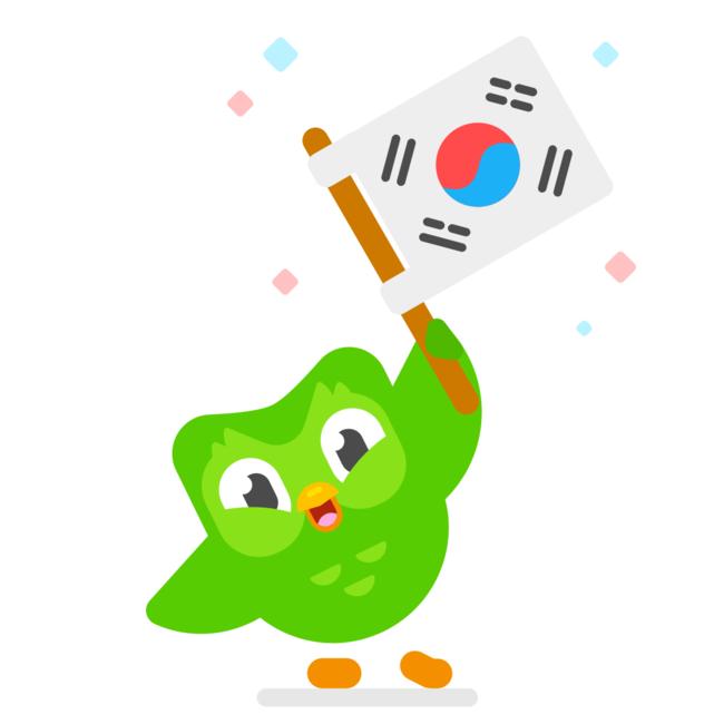 Duolingo 韓国語コース ロゴ