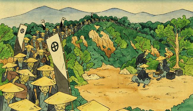 ▲鹿児島から東京までの1600kmを歩いて向かった、過酷な薩摩藩の参勤交代