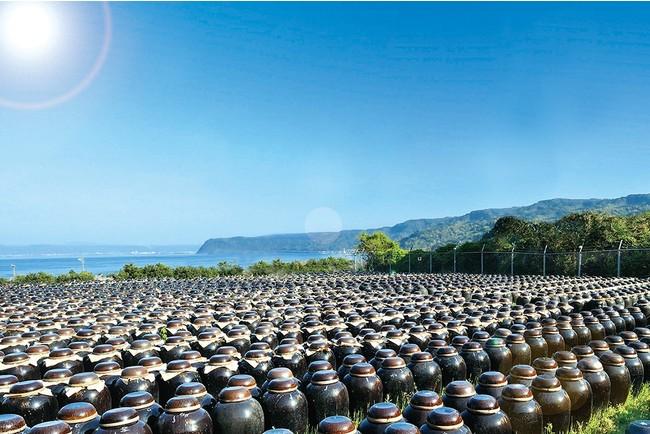 ▲鹿児島県・福山町の黒酢つぼ畑