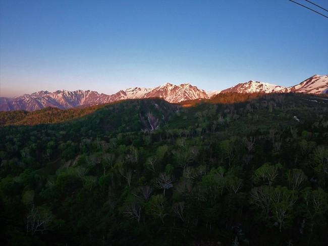 モルゲンロート 北アルプス