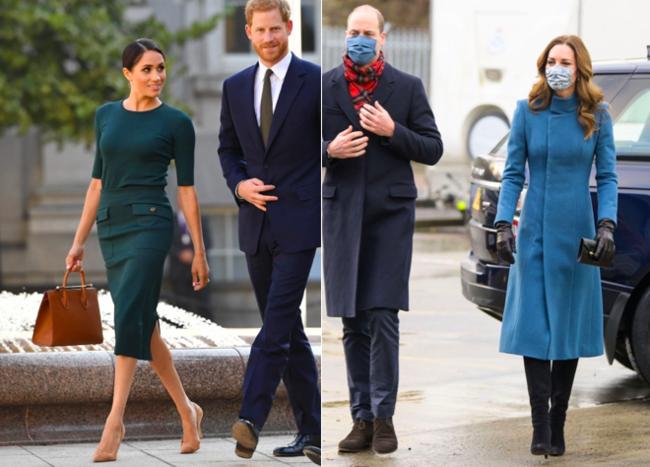 メーガン妃、ハリー王子、ウィリアム王子、キャサリン妃