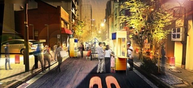 「あじさい通り」では期間中ライトアップが実施されるほか、  11月3日(金・祝)の夜には地元店舗が出店する屋台も出現