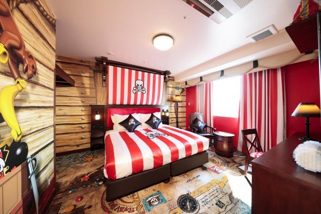 「レゴランド・ジャパン・ホテル」のパイレーツフロア(スイートの寝室)