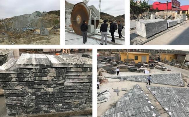 中国・山東省での石の切り出し丁場と、福建省厦門の加工工場(2018~2019)