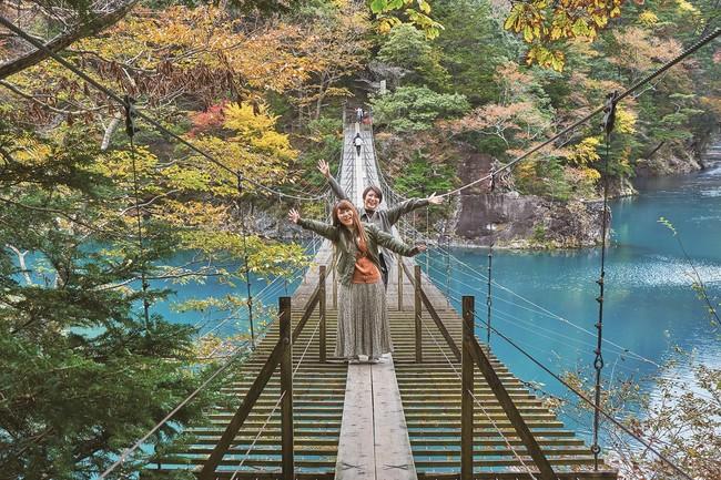 静岡県・寸又峡 夢の吊橋周辺の紅葉絶景