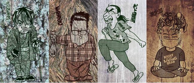 「ひどい民話V3」登壇者イラスト