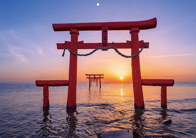 1月 佐賀 大魚神社の海中鳥居