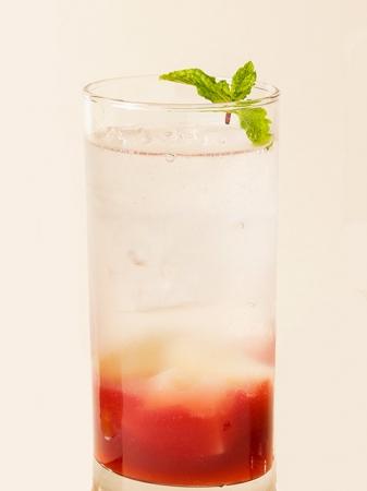 桃のソーダ