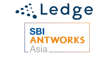 レッジおよびSBI AntWorks Asiaのロゴ