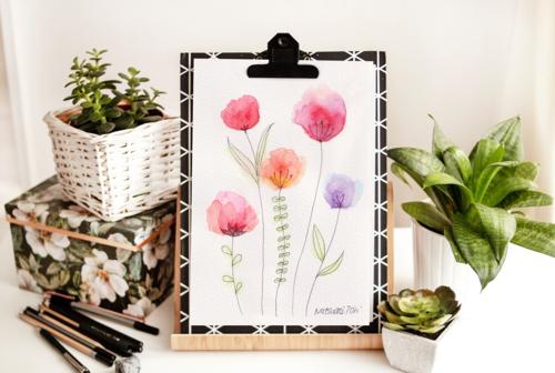 レッスン「カンタン♪きれいなお花を描いてみよう!」より