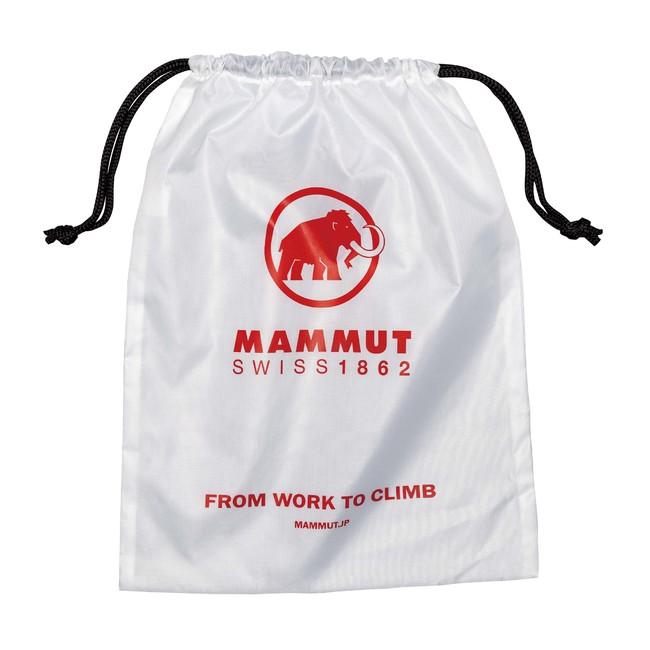 マムート・マルチ巾着。着替えやシューズを入れるのにちょうどいいサイズ。
