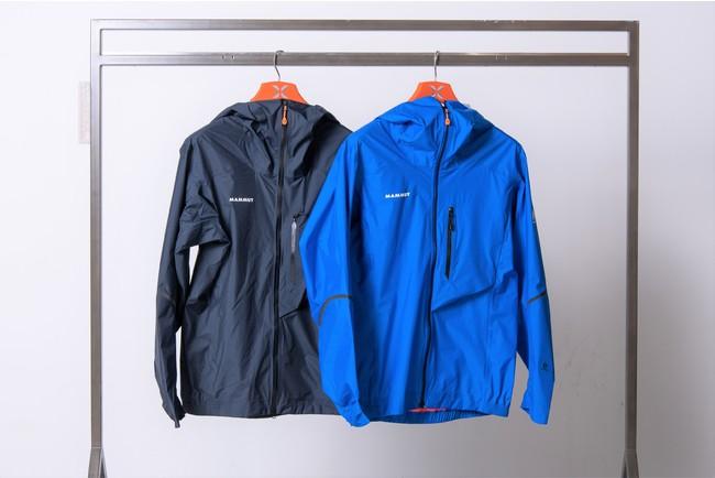 「ノードワンド ライト HS フーデッド ジャケット」 写真左から:カラー・night 、azurit