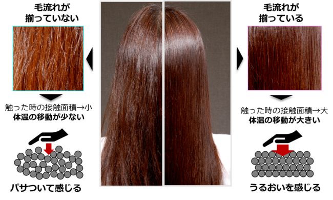 毛流れ(髪のキメ)の重要性