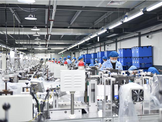マスク製造工場