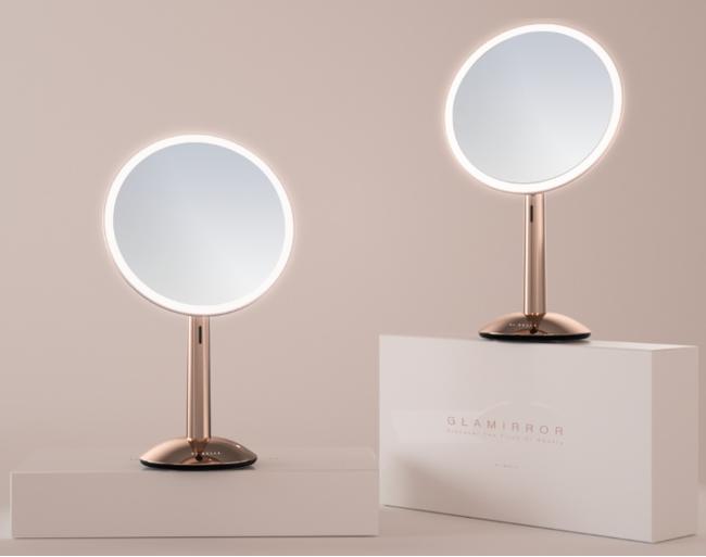 ガラミラー|自然光を再現するライト付き化粧鏡