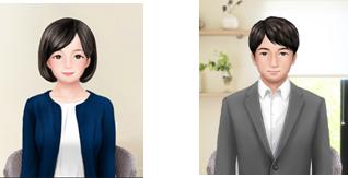 ※アバターのイメージ例(左:相談者、右:心理師)