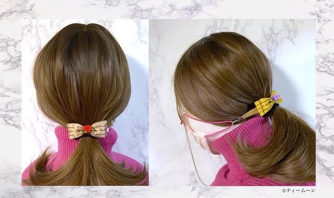 着用画像のイメージ:ヘアアクセサリーをつけているような綺麗な後ろ姿になります。