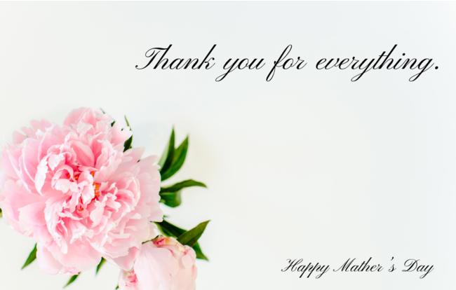 母の日ギフトメッセージカード