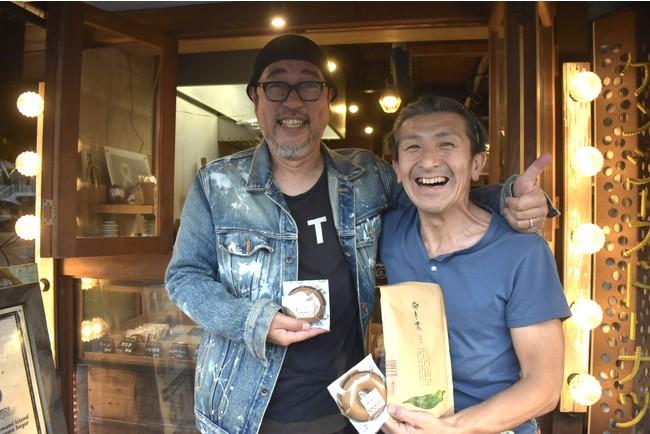 写真右・上杉健治氏 写真左・プランナーの石元卓也氏