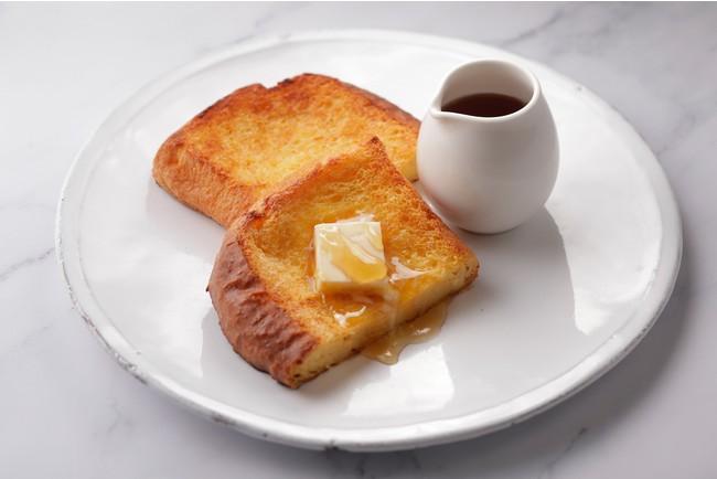 卵やフレッシュクリームで作ったアパレイユにブリオッシュ生地をじっくり漬け込んで焼き上げたフレンチトーストです。