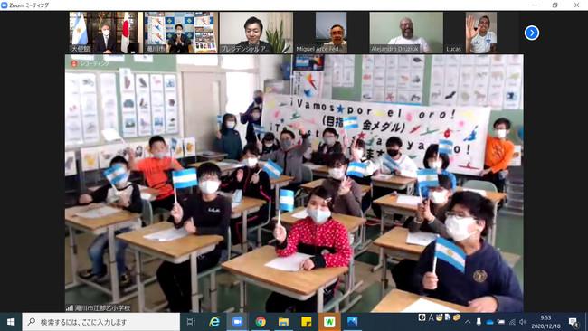 オリンピック・パラリンピック教育推進校に指定されている江部乙小学校の5年生16人
