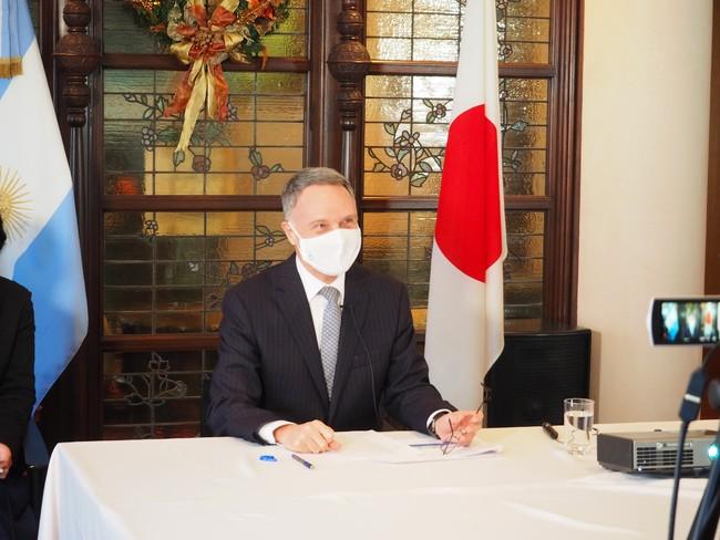 アラン・ベロ― 駐日アルゼンチン特命全権大使も東京の大使館からオンラインで参加