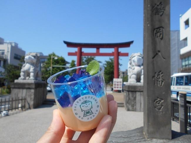 美しく綺麗なあじさいプリンは、鎌倉観光に彩りを添えます
