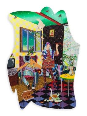 Wanderlust Innocence, 2019, Acrylic and mixed media on canvas, 261.62×185.42 cm