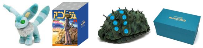 ぬいぐるみ(テト 11,000円・王蟲 14,300円) アニメージュの表紙や誌面に登場する キャラクターを模した日本製ぬいぐるみ。 限定BOX入り。