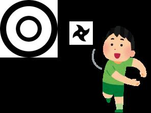 手裏剣雪山的あてゲーム(イメージ)