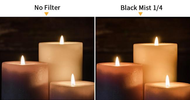ピントの芯を保ちながら光を拡散、コントラストを抑制し、柔らかな描写が得られます。