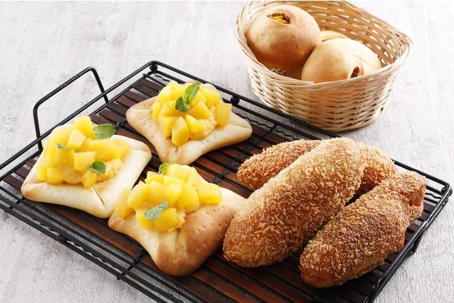 カレーパン/マンゴークリームパン/香ばしとうもろこしパン