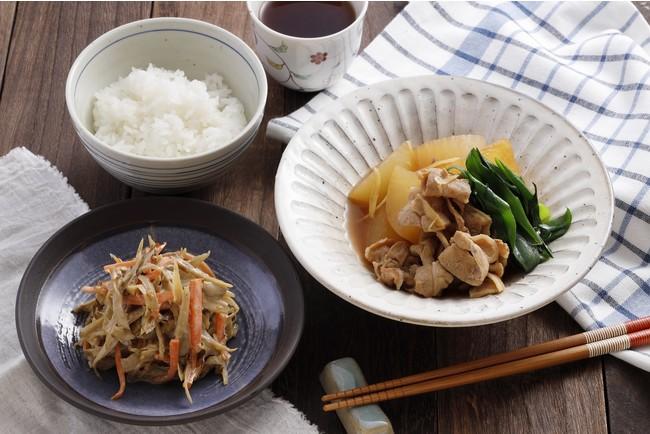 牛蒡サラダ/豚肉と大根の煮物