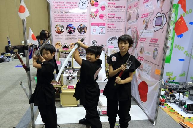 オープンカテゴリ 小学生部門参加 「Candy Samurai」