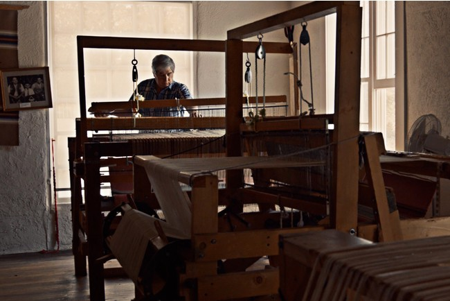 チマヨ織の製造工程