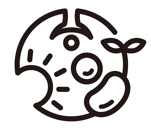 生命のスパイラルを表したロゴ