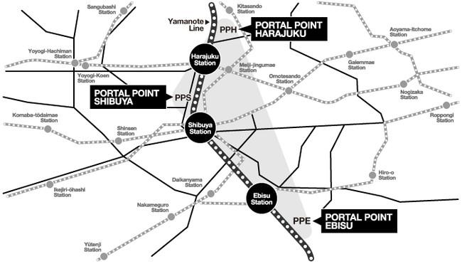▲【MAP】相互利用が可能な3施設