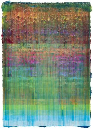 三浦光雅《d,49》アクリル、パネル、麻 210×297×30mm