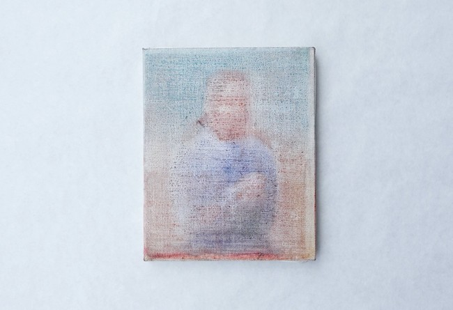 那須佐和子《Man in a Blue Shirt》2021年 oil on canvas