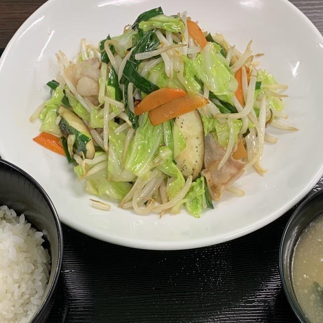 産直野菜炒め定食(税込 750円)