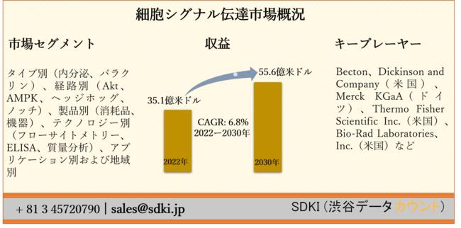 調査レポートの概要:細胞シグナル伝達市場ー世界的な予測2030年