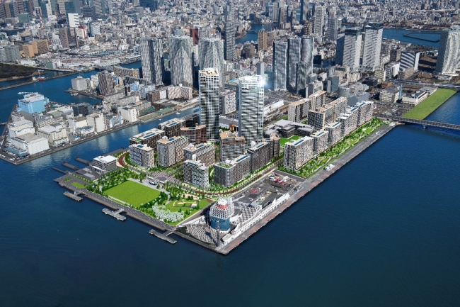 """[エリア開発]東京2020オリンピック・パラリンピック選手村活用後の街づくり、タウンネーム""""HARUMI FLAG""""に決定"""