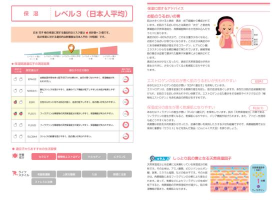 肌老化予防プログラム(報告書サンプル)
