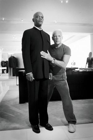 Giorgio Armani and Samuel L. Jackson 2003 年 photocredit Emanuele Scorcelletti