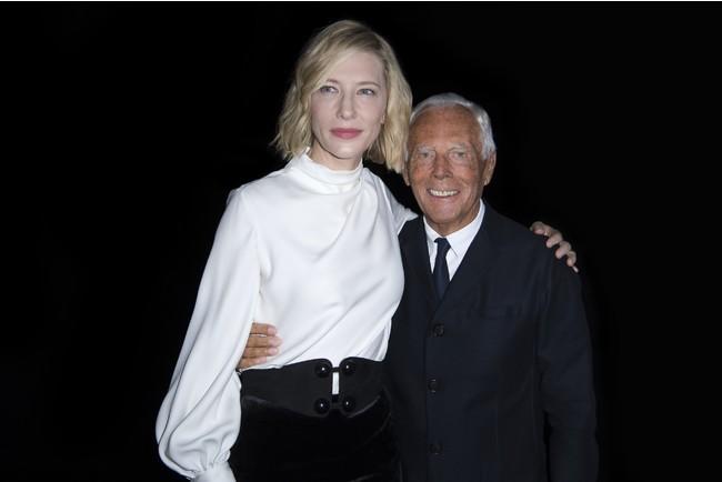 Cate Blanchett and Giorgio Armani photocredit SGP